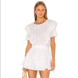 LoveShackFancy Natasha Dress in White